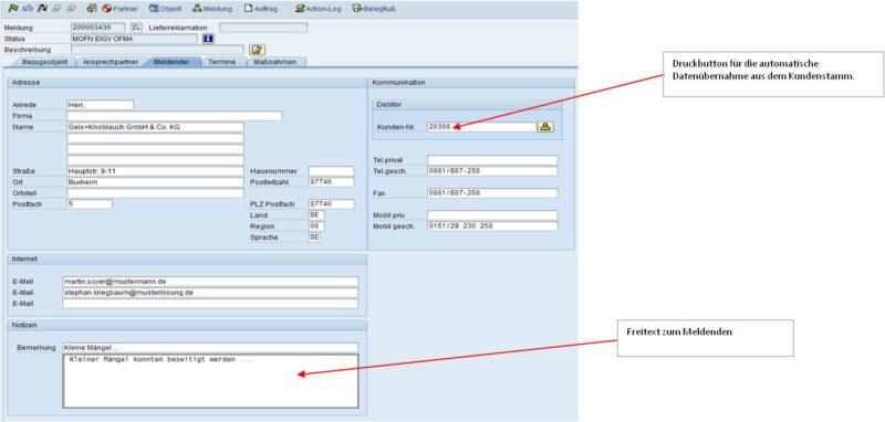 SAP Reklamationsabwicklung 03