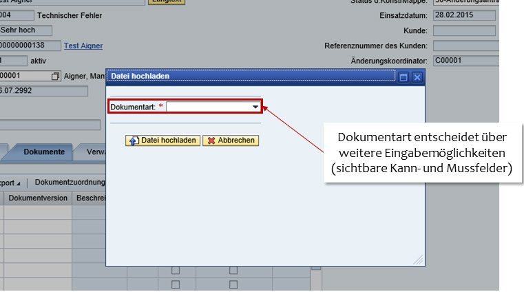 SAP Dokumentenupload 02