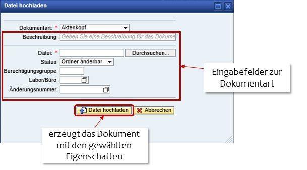 Dokumentenupload - Datei hochladen