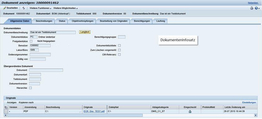 SAP Dokumentenupload - Dokumentenverwaltung