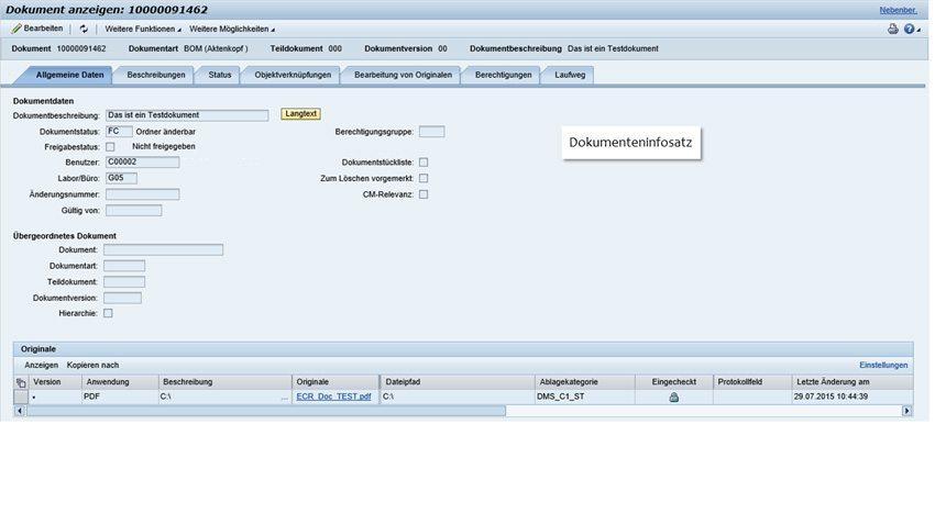 SAP Dokumentenupload - Dokument anzeigen