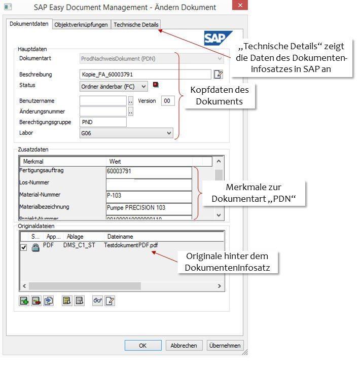 SAP Dokumentenverwaltung - SAP Easy DMS - Ändern Dokument
