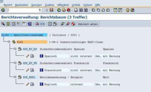 SAP Produktsicherheit - Berichtsverwaltung