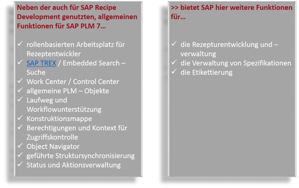SAP RD - Rezeptentwicklung