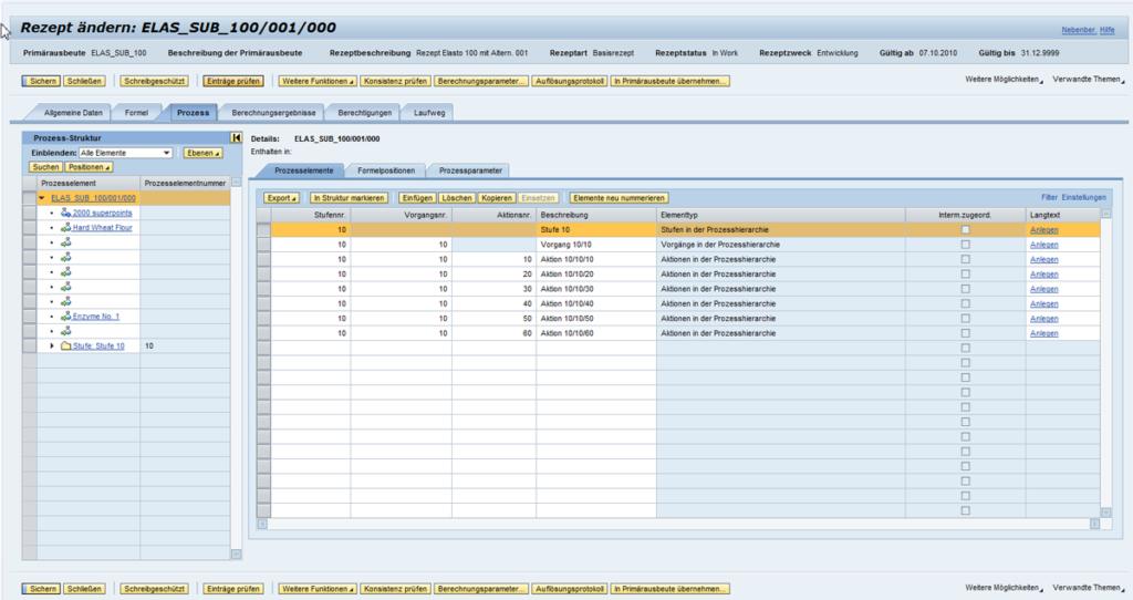 SAP Recipe Development - Rezeptentwicklung